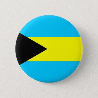 Badge Rond 5 Cm Symbole de drapeau de pays des Bahamas longtemps