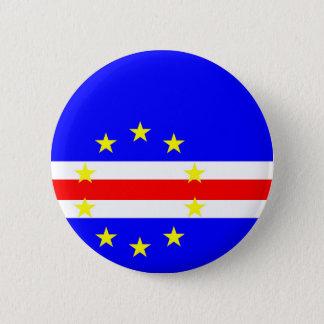 Badge Rond 5 Cm Symbole de drapeau de pays du Cap Vert longtemps