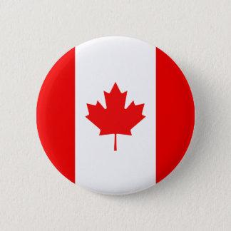 Badge Rond 5 Cm Symbole de feuille d'érable