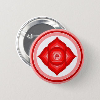 Badge Rond 5 Cm Symbole rouge de chant religieux de méditation de