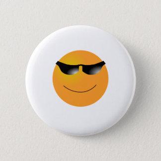 Badge Rond 5 Cm T-SHIRTS de lunettes de soleil d'Emoji