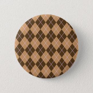 Badge Rond 5 Cm Talent à motifs de losanges