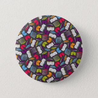 Badge Rond 5 Cm Tant de livres colorés…