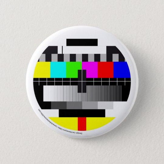 Badge Rond 5 Cm Television / Télévision / TV