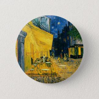 Badge Rond 5 Cm Terrasse de café de Vincent van Gogh |, Place du