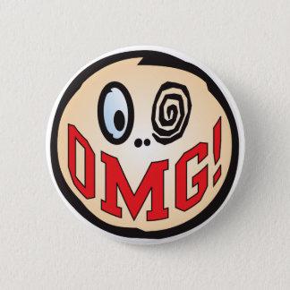 Badge Rond 5 Cm Tête des textes d'OMG