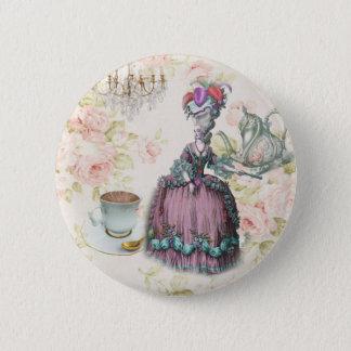 Badge Rond 5 Cm Thé floral français Marie Antoinette de Paris
