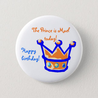 Badge Rond 5 Cm the prince is
