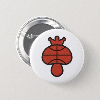 Badge Rond 5 Cm Thème de basket-ball de champignon