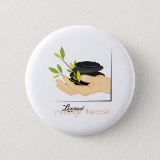 Badge Rond 5 Cm Thérapeute autorisé de massage
