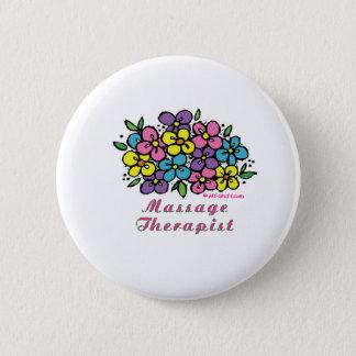Badge Rond 5 Cm Thérapeute des fleurs M