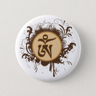 Badge Rond 5 Cm Tibétain OM