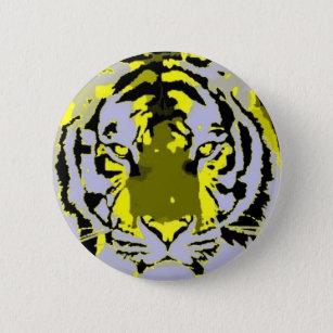 Badge Rond 5 Cm Tigre d'art de bruit