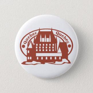 Badge Rond 5 Cm Timbre du Québec