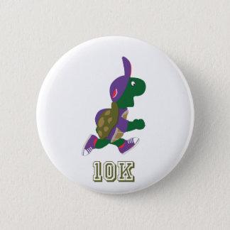 Badge Rond 5 Cm Tortue 10K - Pourpre