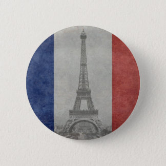Badge Rond 5 Cm Tour Eiffel, Paris France