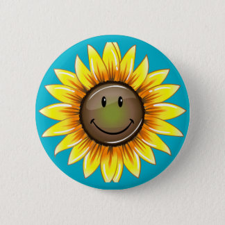 Badge Rond 5 Cm Tournesol de sourire de Sunkissed
