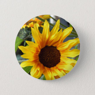Badge Rond 5 Cm Tournesols ardents