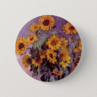 Badge Rond 5 Cm Tournesols par Claude Monet