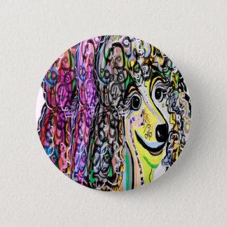 Badge Rond 5 Cm Transition de couleur de caniche