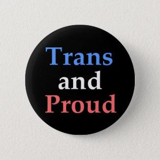 Badge Rond 5 Cm Transport et fier - gay pride