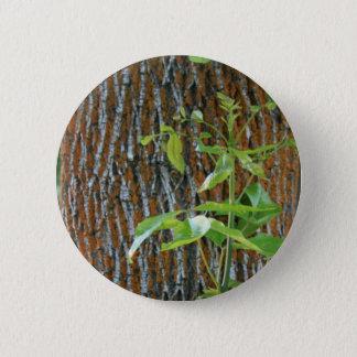Badge Rond 5 Cm Tronc avec le feuillage