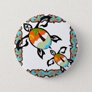 Badge Rond 5 Cm Tropical-copie-tortue