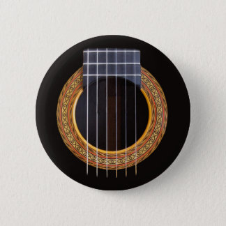 Badge Rond 5 Cm Trou espagnol de guitare