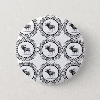 Badge Rond 5 Cm troupeau d'anneau d'orignaux