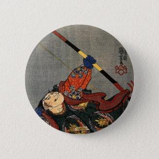 Badge Rond 5 Cm Un Archer samouraï
