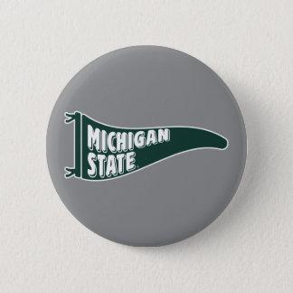 Badge Rond 5 Cm Université de l'Etat d'État du Michigan de MSU