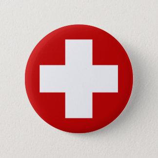 Badge Rond 5 Cm Urgence suisse Roundell de Croix-Rouge