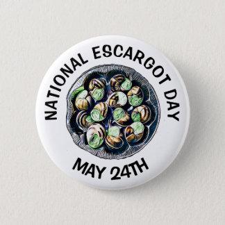 Badge Rond 5 Cm Vacances drôles de nourriture Escargot jour du 24