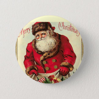 Badge Rond 5 Cm Vacances vintages de Noël