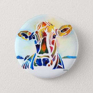 Badge Rond 5 Cm Vache à Whimzical