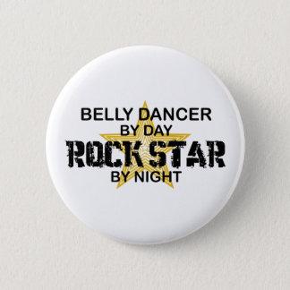 Badge Rond 5 Cm Vedette du rock de danseuse du ventre par nuit