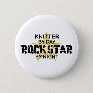Badge Rond 5 Cm Vedette du rock de tricoteuse par nuit
