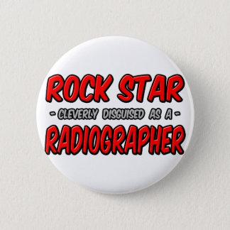 Badge Rond 5 Cm Vedette du rock. Manipulateur