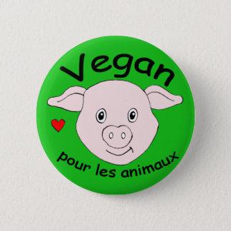 Badge Rond 5 Cm vegan pour les animaux