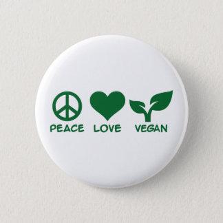 Badge Rond 5 Cm Végétalien d'amour de paix