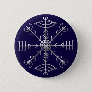 Badge Rond 5 Cm Veldismagn, Islande, protection, Rune, magie