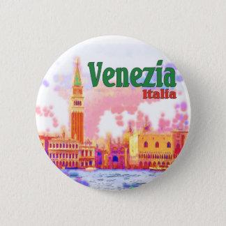 Badge Rond 5 Cm Venezia, Italie