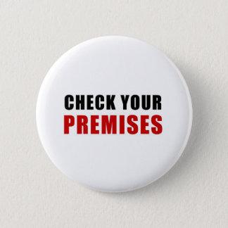 Badge Rond 5 Cm Vérifiez vos lieux