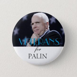 Badge Rond 5 Cm Vétérans pour Palin