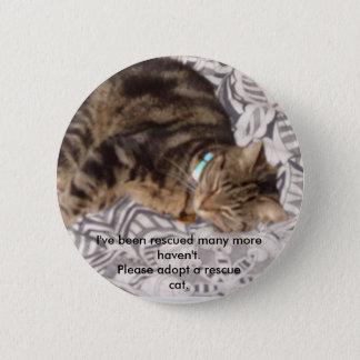 Badge Rond 5 Cm Veuillez secourir un chat