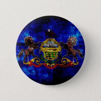 Badge Rond 5 Cm Vieux drapeau de la Pennsylvanie ;