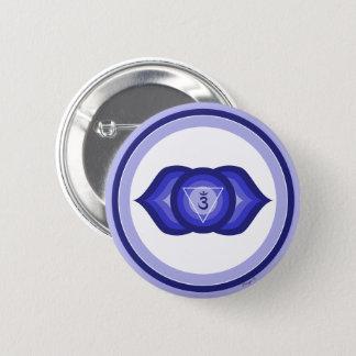 Badge Rond 5 Cm Violette spirituelle de méditation de yoga de