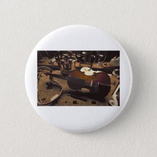 Badge Rond 5 Cm Violon