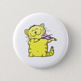 Badge Rond 5 Cm Violon de jeu de Kitty