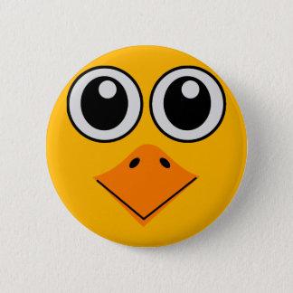 Badge Rond 5 Cm visage coloré de luxe d'oiseau